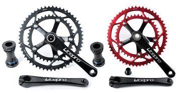Litepro Bicycle Hollow tech crankset Ultegra Double Road Bike Crankset 130BCD  53-39T chain ring BMX Road Folding Bike Crankset