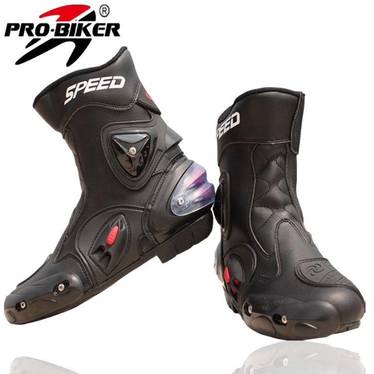 Pro-biker Brand Breathable Outdoor Sports Motorcycle Racing Shoes Motorbike Motocross Moto Boots black wihte red Men/Women A004