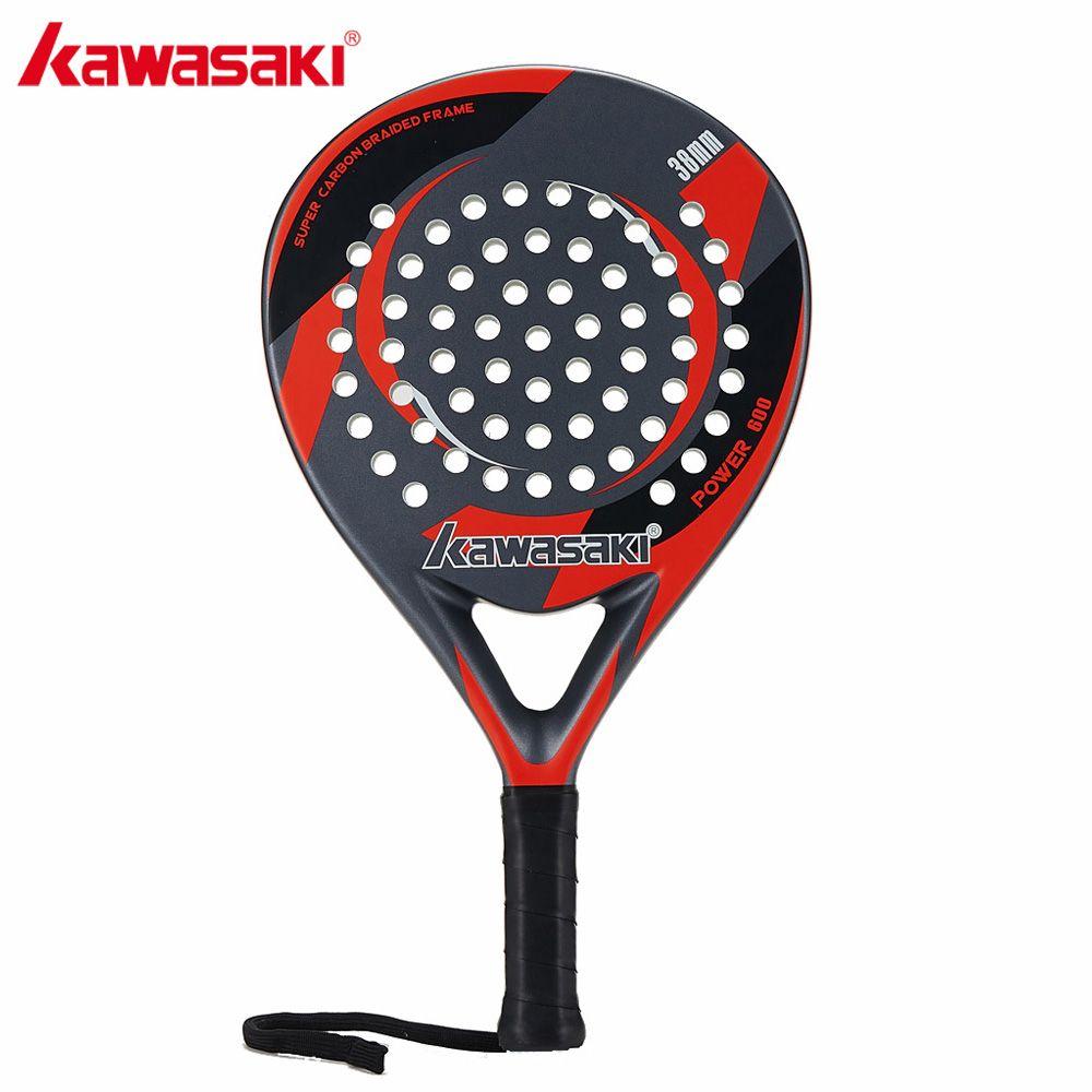Original Kawasaki Marke Padel Tennisschläger Kohlefaser Weicher EVA Gesicht Tennis Paddle Schläger mit Padle Tasche Abdeckung AMG001