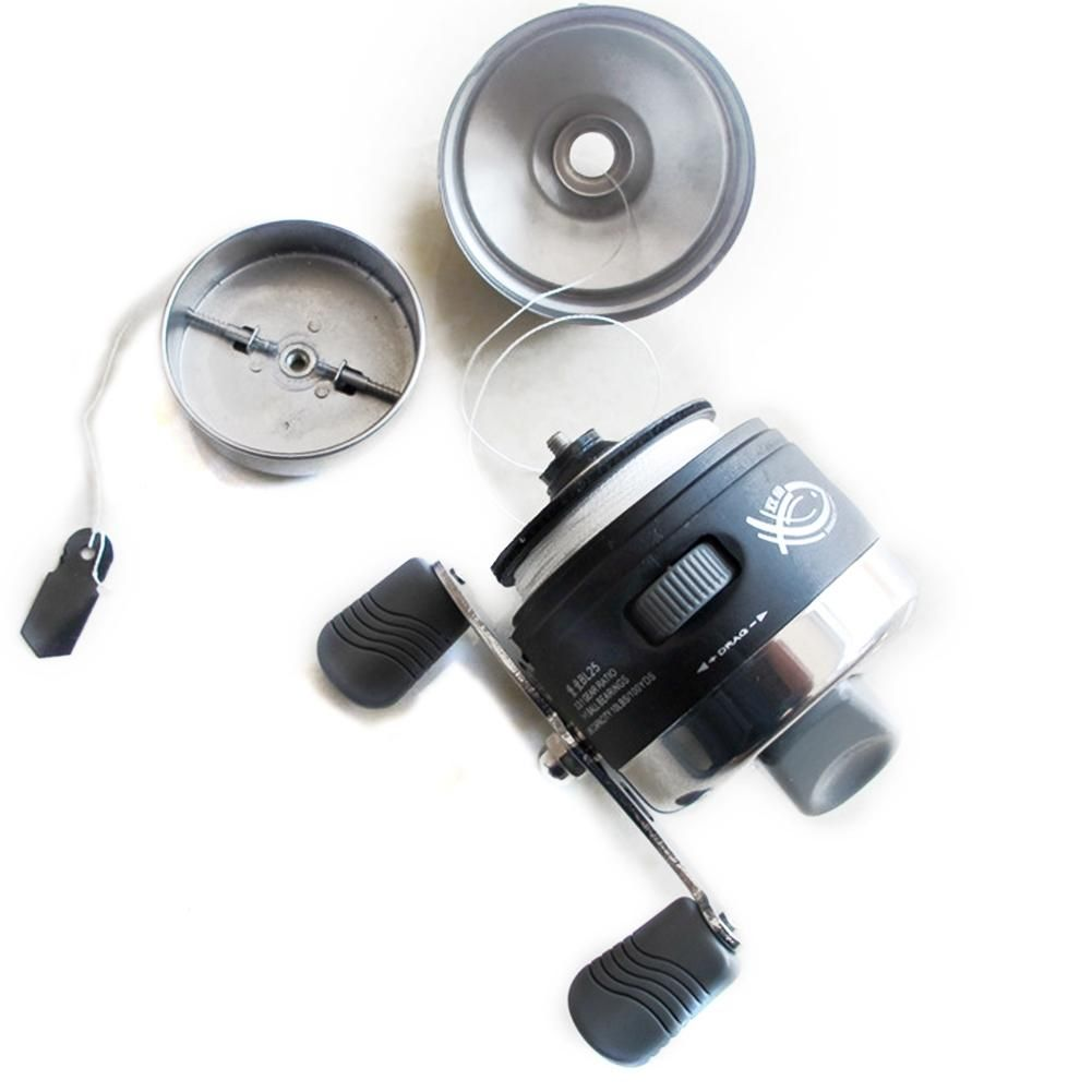 DSstyles Enclosed Fishing Reel Left/Right Interchangeable Spincast Reel for Saltwater Freshwater Fishing