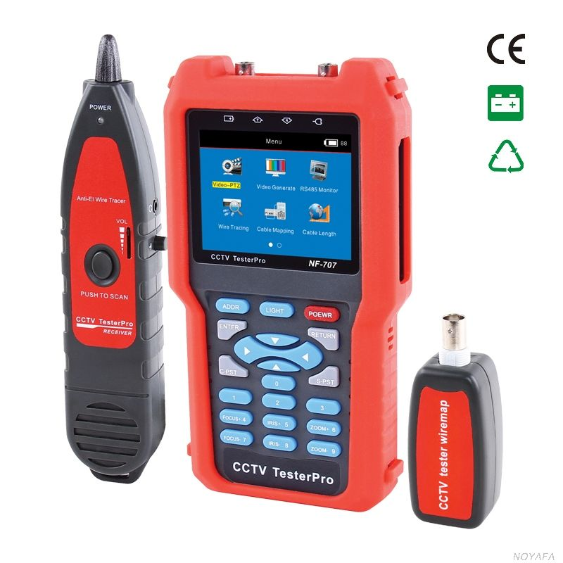 CCTV Tester NF-707 Analog & CVBS Signal, cable tester tracker Optical power meter bulit-in to check the fiber loss