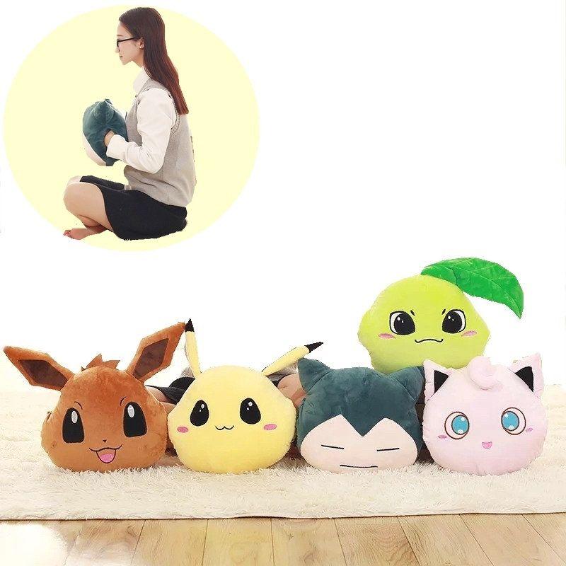 33 CM Snorlax Pikachu Psyduck suave Felpa calentador de la Mano almohada Jigglypuff pikaqiu oficina De Anime de Felpa Muñeca de Peluche de Juguete para niños