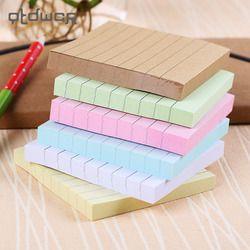 Oficina papelería notas adhesivas Square Soild Color Memo Pad 80 páginas etiqueta Bookmark Point es Marker Memo Sticker Paper