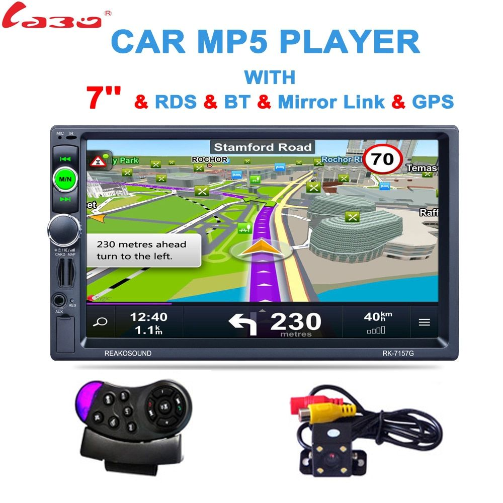 2 Din 7 inch HD GPS Car Navigation 800MHZ FM/8GB/DDR3 2017 Maps For Russia/Belarus Europe/USA+Canada TRUCK Satnav Camper Caravan