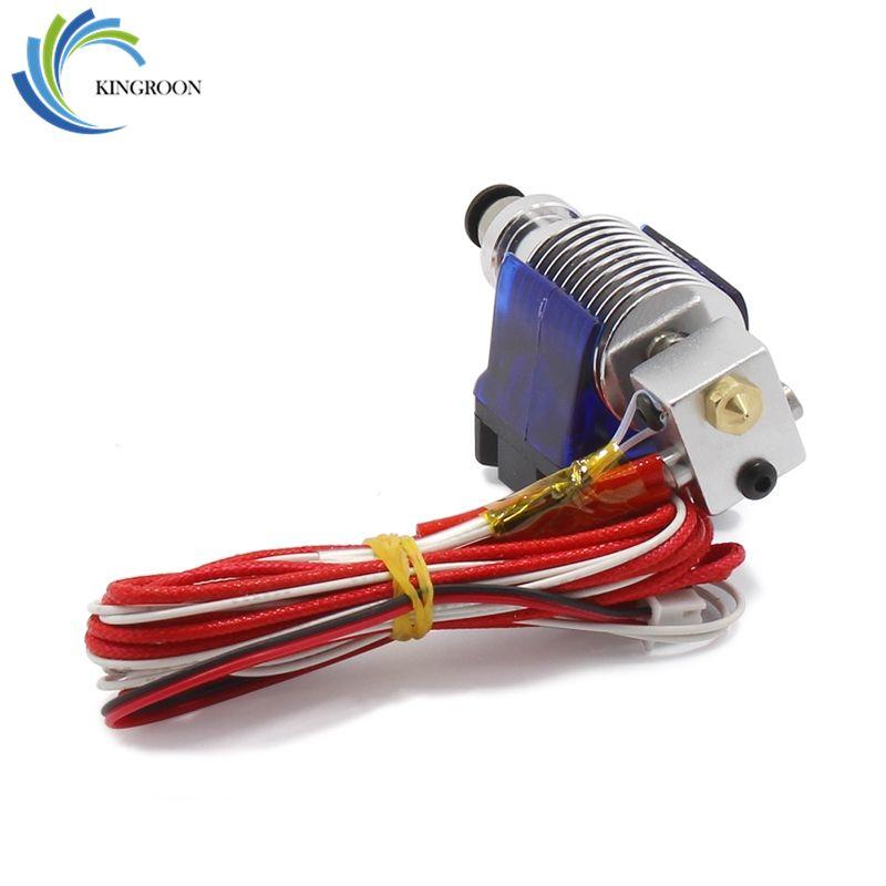 V6 j-head Hotend Kit d'extrudeuse à distance pièces d'imprimantes 3D ventilateur de refroidissement support bloc thermistances buse 0.4mm 1.75mm pièces de Filament