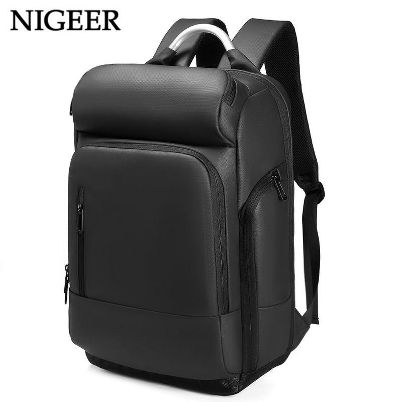 15.6 <font><b>Laptop</b></font> Backpack Black Business Male Mochila USB Charging Functional Rucksack Waterproof Leisure Travel Backpack Men n1877