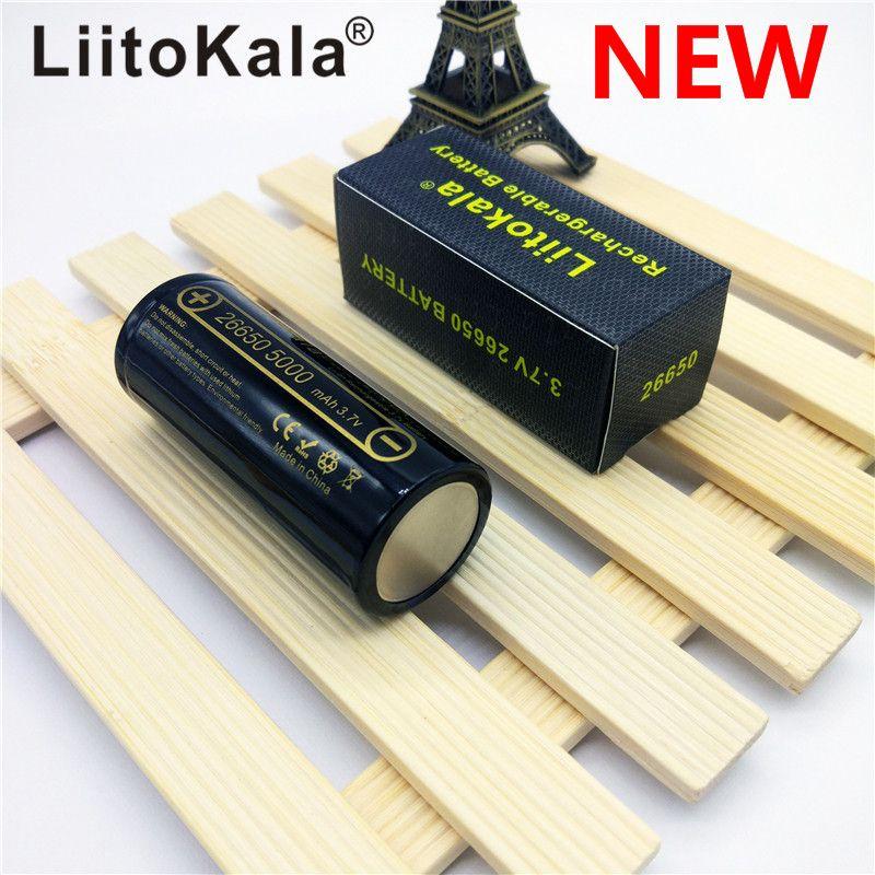 HK LiitoKala lii-50A 26650 5000 mah batterie au lithium 3.7 v 5000 mah 26650 batterie rechargeable 26650-50A adapté pour lampe de poche NOUVEAU