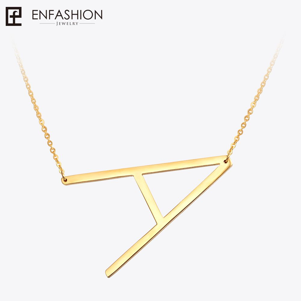 Fashion Letter Necklaces <font><b>Pendants</b></font> Alfabet Initial Necklace Gold ColorStainless Steel Choker Necklace Women Jewelry Kolye Collier