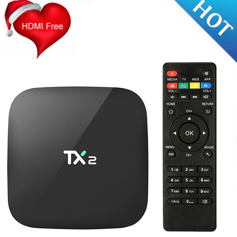 TX2 R2 2G 16G Quad Core Android 6.0 TV Box XBMC Mi TV Blue Ray Media Player Support 1080P H.265 4K 60tps 2.4G Wifi BT2.1 Box Tv