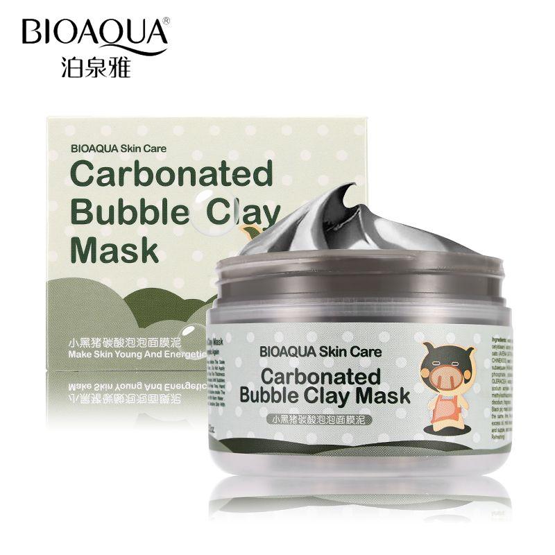 BIOAQUA Marque Visage Soins de La Peau Bulles D'oxygène Carbonate De Boue Masque Acné Comédons Traitement Hydratant Hydratant Visage Masques 100g