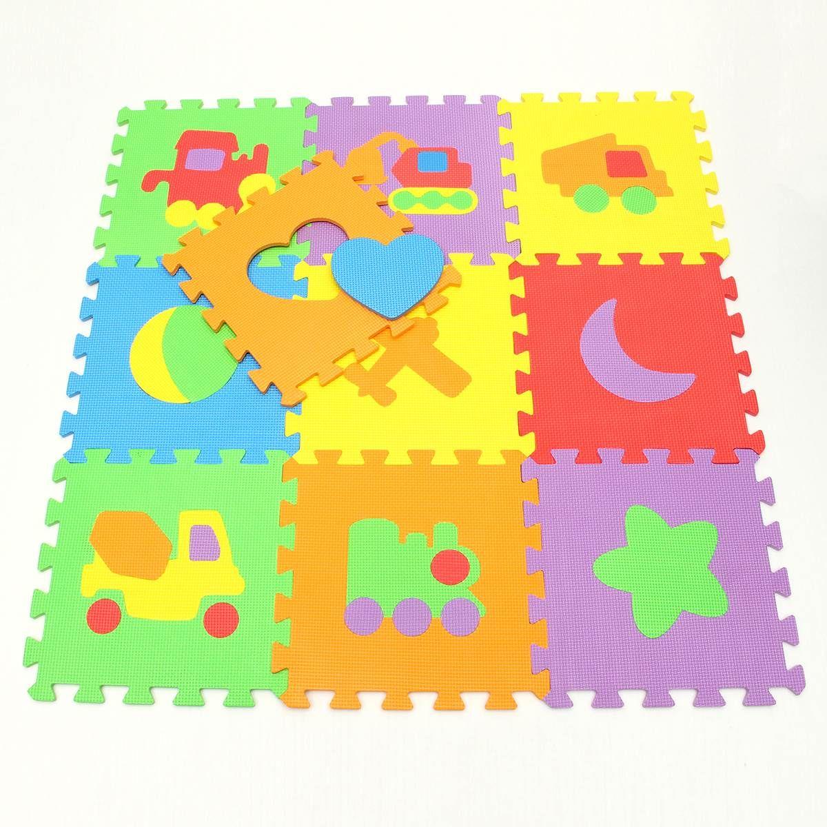 Nueva Llegada 30*30 cm 10 unids/set Alfombra Puzzle Baby Play Mat Piso Estera del rompecabezas EVA Niños Espuma Alfombra Del piso de Mosaico Bebé Gatee juguete