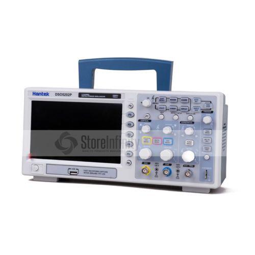 Hantek DSO5202P 200MHz 2 CH 1GSa/s 7'' TFT LCD Digital Storage Oscilloscope DE shipping