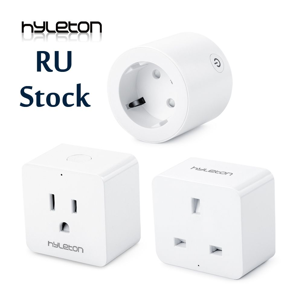 Hyleton smart plug 10A Home <font><b>Automation</b></font> wifi socket 100-240V Remote Control EU/US/AU Wifi Socket Working with Alexa and Google