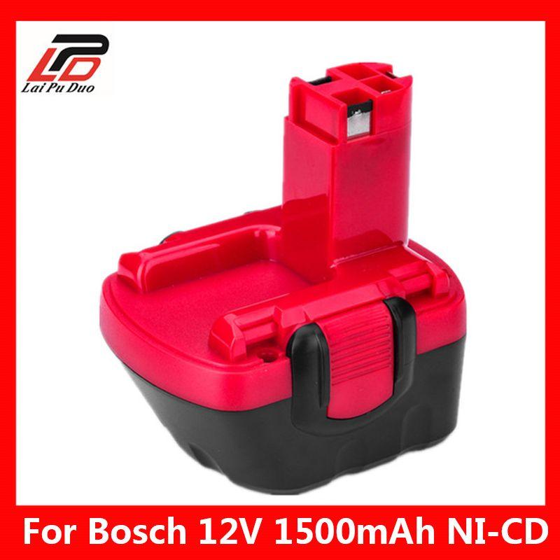 Remplacement ni-cd 12 v 1.5Ah pour batterie à outils Bosch 2607335709/2607335249/2607335261/2607335262/2607335273/GSR12-1 GSB12VE-2