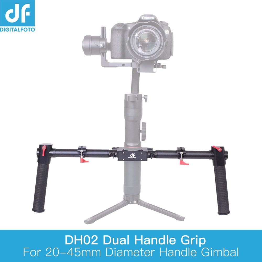 Universal Handheld Dual Handle kit Grip Bracket for Zhiyun Crane 2 Plus MOZA Air DJI 3 axis Gimbal stabilizer Feiyu a1000/a2000