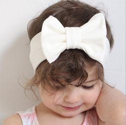 Bébé Bowknot Bandeau Tricoté Coton Enfants Filles élastique bandes de cheveux Turban pour fille Bandeaux D'été bandeau bebe