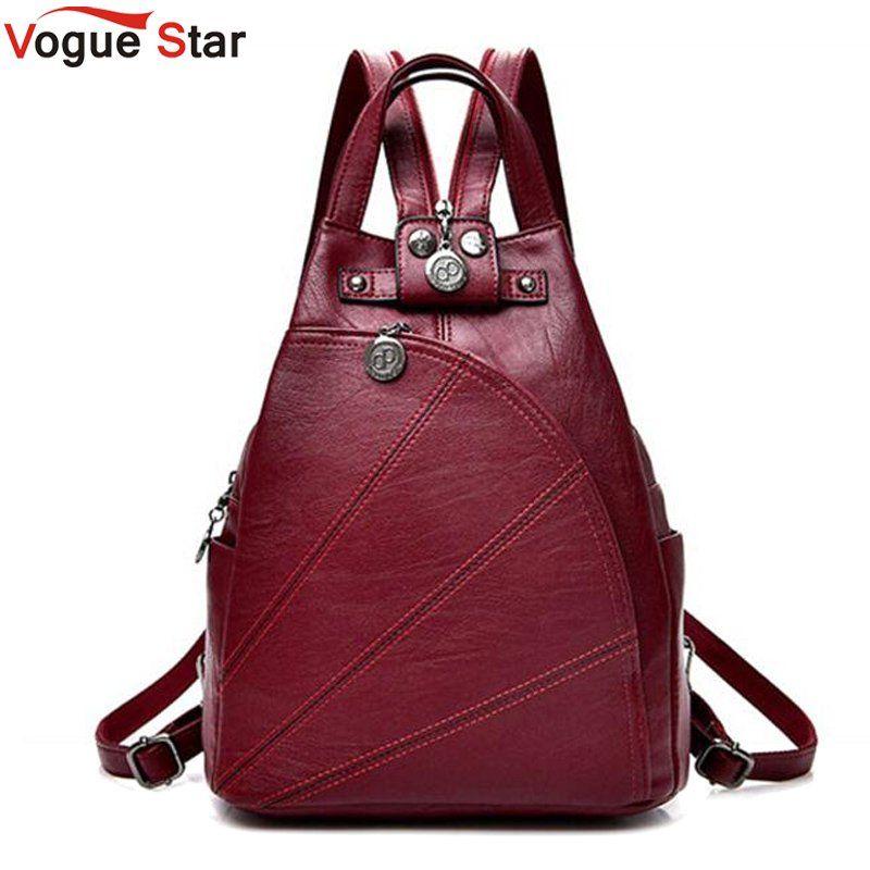 Fashion Leisure Women Backpacks Women's PU Leather Backpacks Female school Shoulder bags for teenage Travel Back pack LB471
