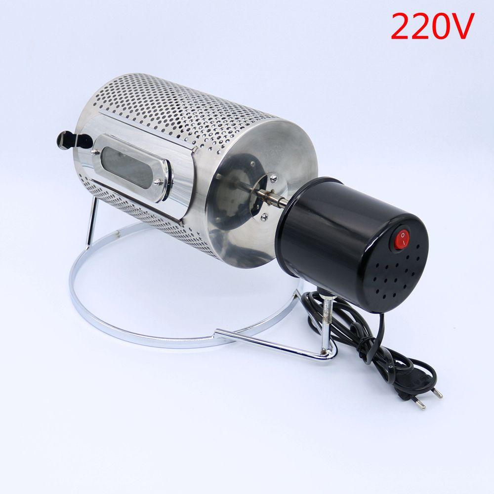 220 V Kaffee Röster edelstahl Kaffeebohne backmaschine Haushalt Kaffeebohne Röster maschine Backen Kaffeebohnen Bäcker