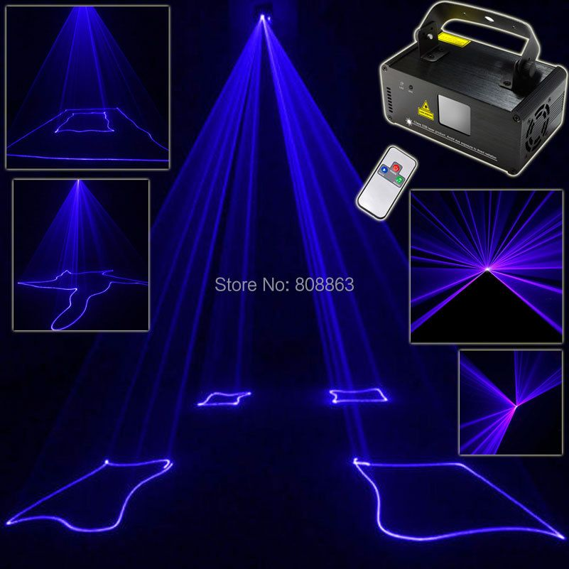 ESHINY 450 Blue Laser Stage Lighting Scanner Beam DMX512 Effect Light Dance DJ Bar Disco Shop Party Xmas Lights Show Remote D71