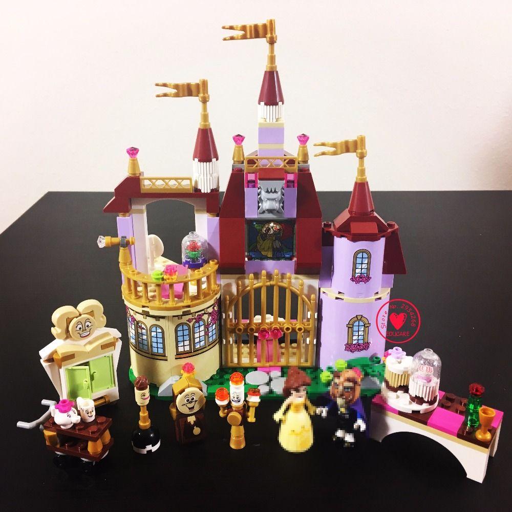 Nouvelle Princesse Belles Château Enchanté fit legoings Princesse amis figures modèle blocs de construction briques filles bricolage jouets cadeau enfant