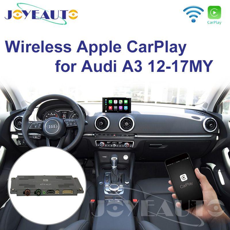 Joyeauto WIFI Drahtlose Apple Carplay Auto Spielen Retrofit A3 MMI 3G Plus 2012-2017 für Audi Android Spiegel unterstützung Reverse Kamera