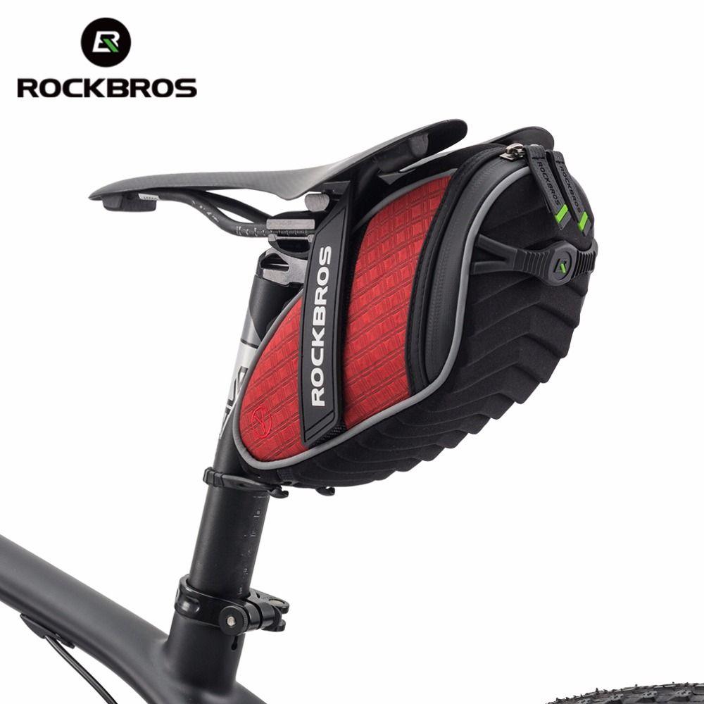 ROCKBROS Cycling <font><b>Rear</b></font> Seatpost Bag 3D Shell Rainproof Saddlebag Reflective Bike Bag Shockproof Bicycle Bag MTB Bike Accessories
