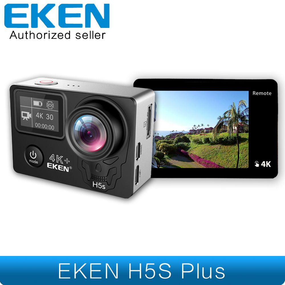 EKEN H5s Plus 4K+ Ambarella A12 Chipset 4K 30fps Utral HD EIS Touch Screen Camera Wifi Helmet Motorcycle underwater H5s+ Camera