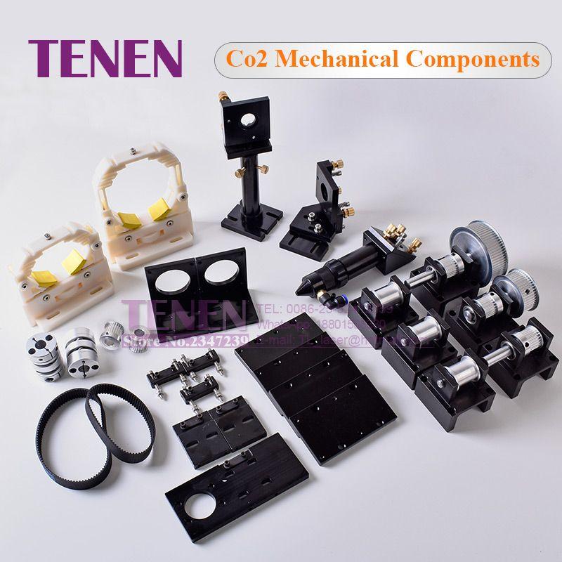 DIY Kit: CO2 Laser Mechanische Komponenten Metall Übertragung Hardware Teile Laser Kopf Set Gravur Schneiden Maschine Ausrüstung