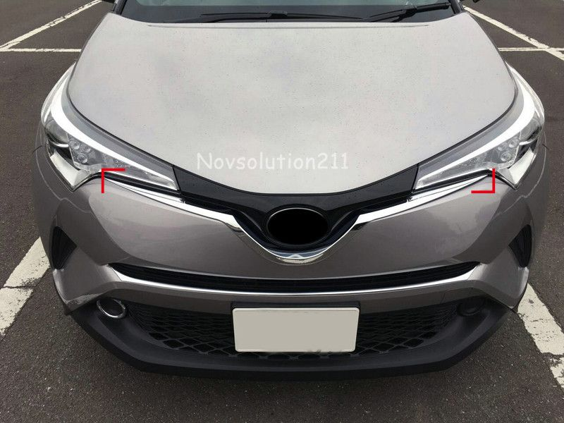 1*ABS Chrome Front Radiator Grille U Shape Mouldings Cover Trim For Toyota C-HR CHR 2016 2017