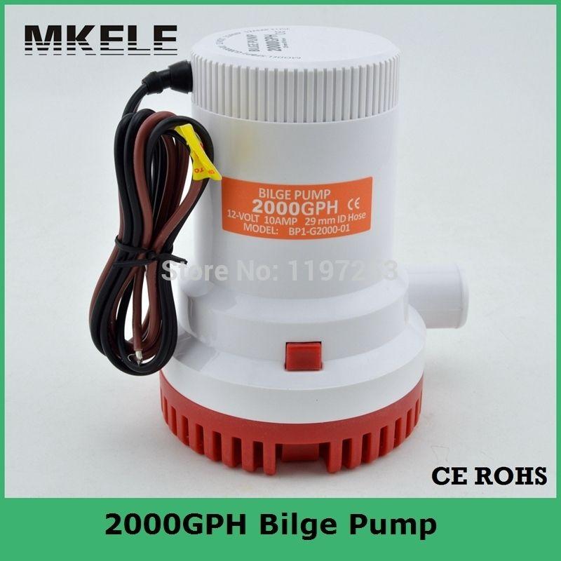 Pompe de cale 12 V 2000gph bateau marin Submersible DC pompe à eau de cale électrique 24 V