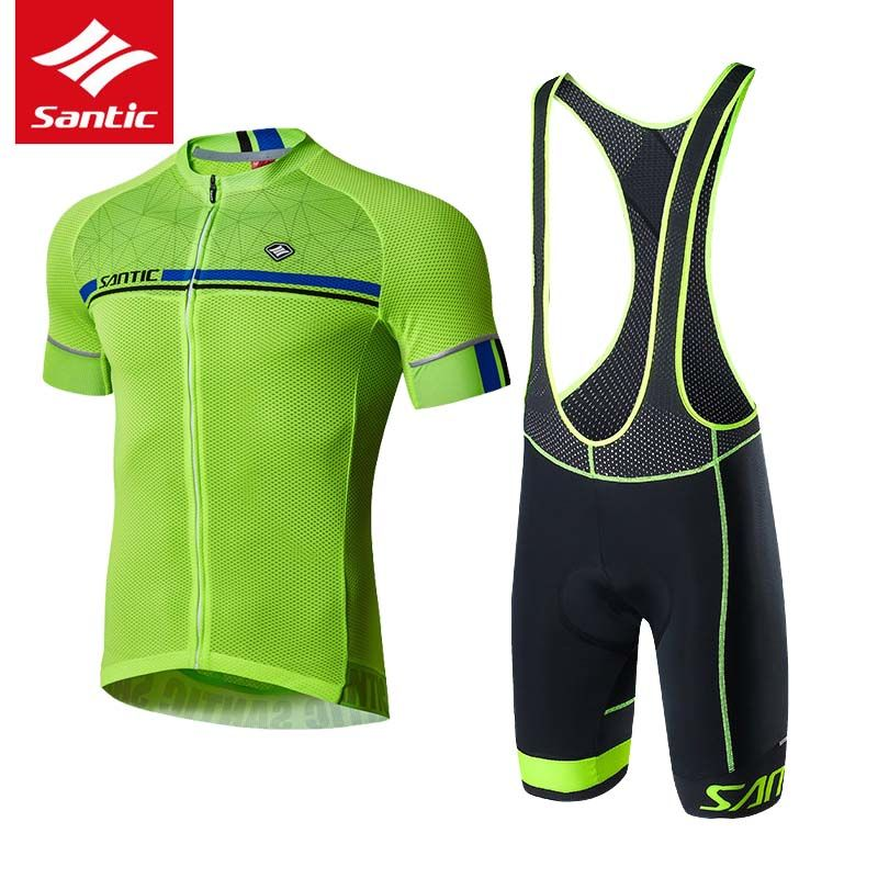SANTIC Cycling Jersey Sets 2018 Pro Team Cycling Clothing Men Ropa Ciclismo Bicycle Clothes Short Sleeve MTB Road Bike Sets