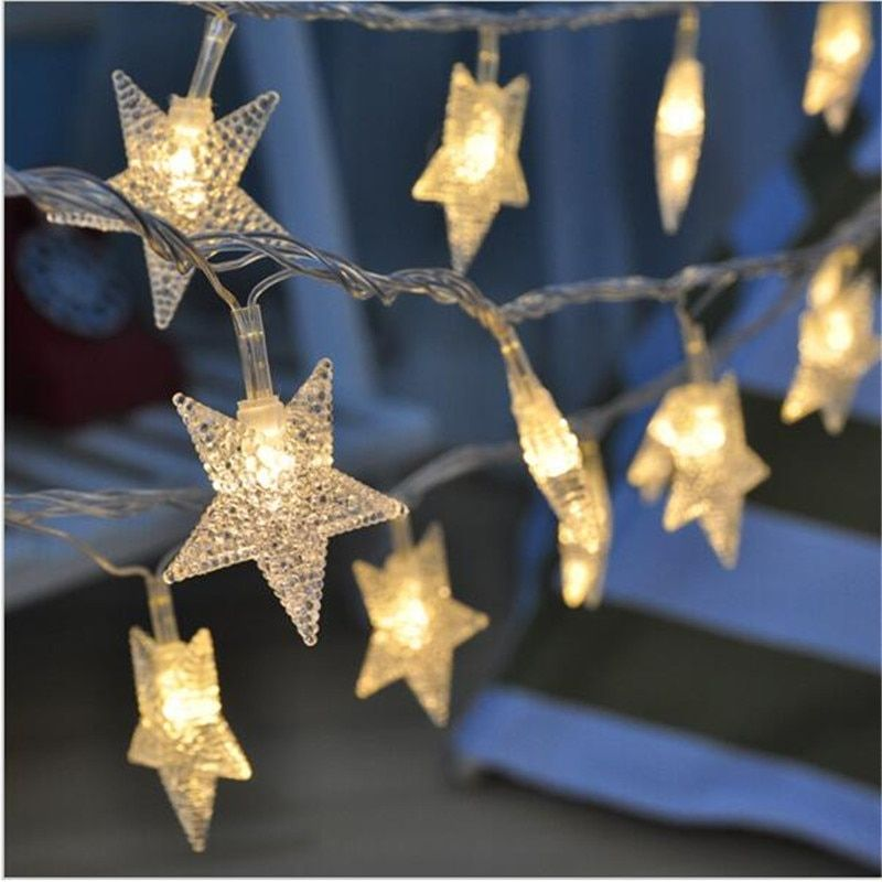 Nueva 4 M 20 LED estrella de Hadas de la secuencia de Las Luces para decoraciones de la boda Casa decoraciones para árboles de navidad luces de navidad al aire libre de interior