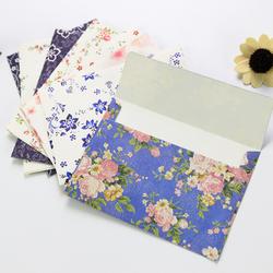10 Pcs Belle fleur exquise tête d'enveloppe cerise roses lettre papier frais et élégant floral enveloppe amour lettres