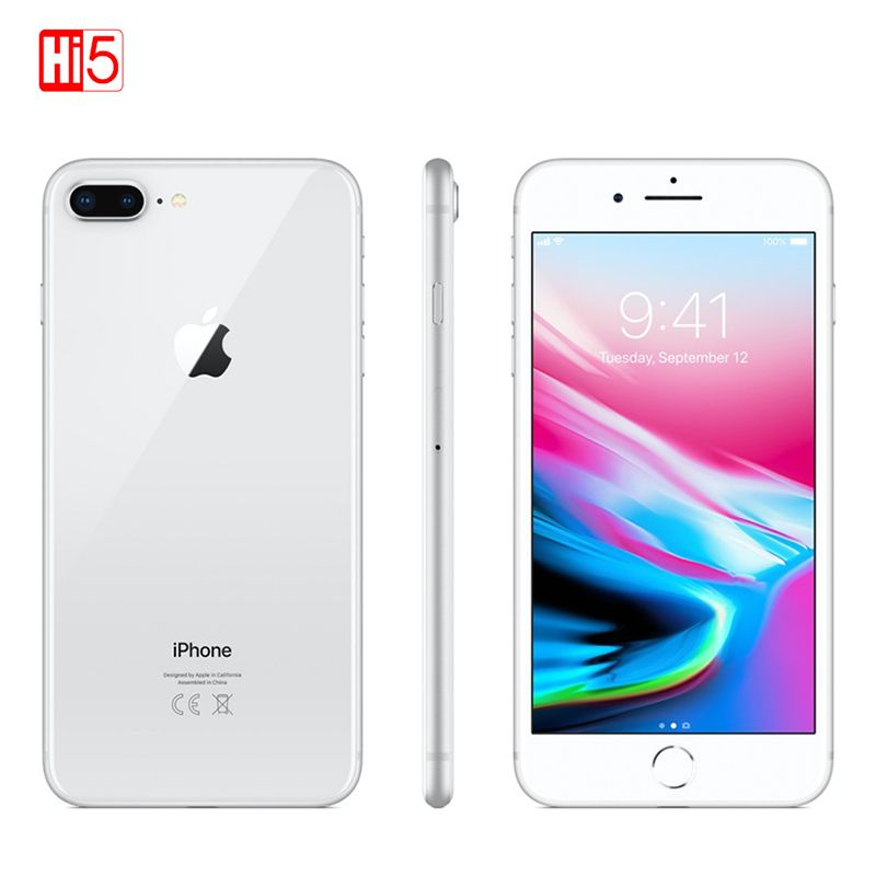 Entsperrt Apple Iphone 8 plus handy 64G/256G ROM 12,0 MP Fingerprint iOS 11 4G LTE smartphone 1080P 4,7 zoll bildschirm