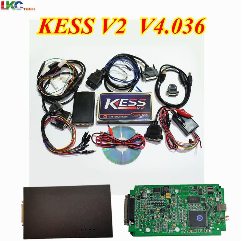 2018 Newest KESS V2 V2.32 FW V4.036 KESS V2 OBD2 Tuning Kit No Token Limitation ECU Chip Tuning Tool KESS V2.32 Master Version