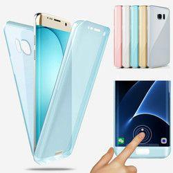 360 Full body Pour Samsung Galaxy S9 S8 A6 A8 Plus 2018 S5 S6 S7 Bord A3 A5 A7 2016 J3 J5 Pro J7 2017 Molle Claire TPU Coque
