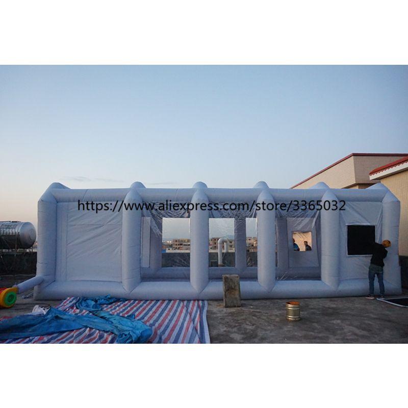 Outdoor tragbare aufblasbare spray booth, mobile aufblasbare auto lackierkabine für verkauf