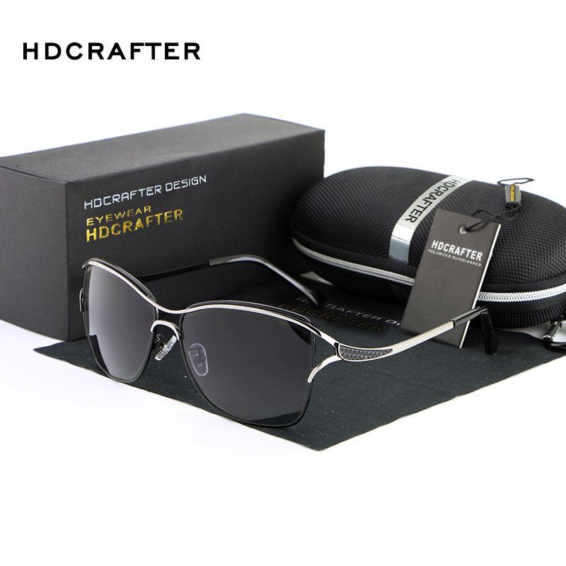 HDCRAFTER Brand Elegant Fashion Ladies Sunglasses Female Larged-Framed Polarized Oculos De Sol Eyewear Accessories