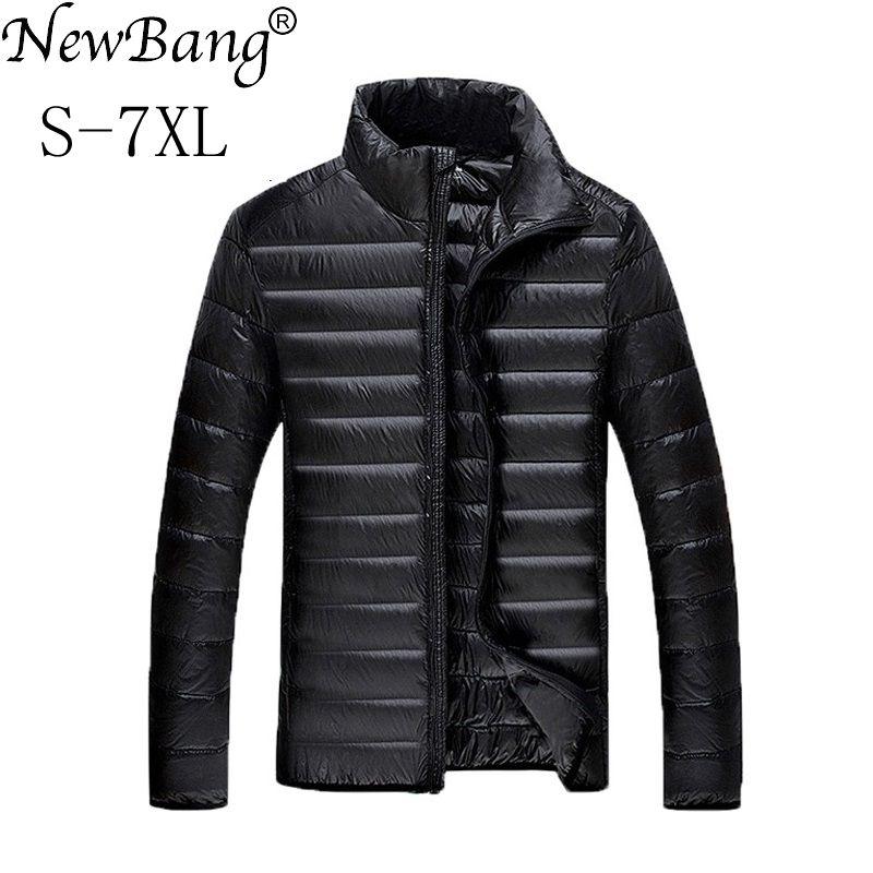 NewBang 5XL 6XL 7XL Duck Down Jacket Men Winter Parkas Men's Feather Ultralight Down Jackets Outwear Plus With Carry Bag