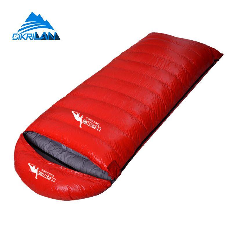 Outdoor Wandern Camping Ausrüstung Umschlag Warm Ente Daunenschlafsack Ultraleichte Wasserdicht Sacos De Dormir Kompressionssack