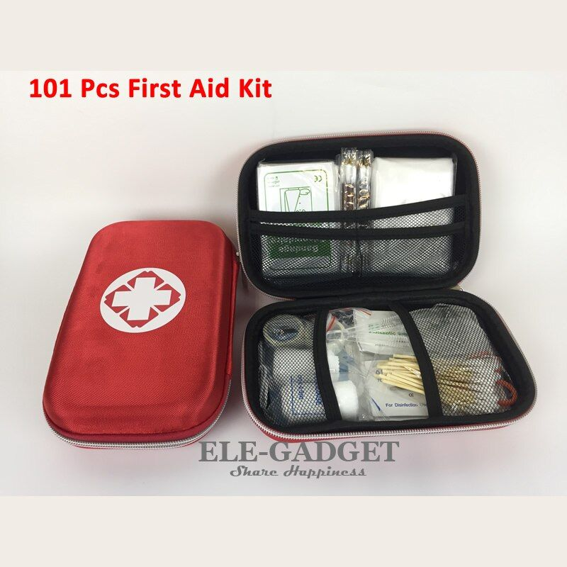 New 101 Items/Set Outdoor Portable Waterproof First Aid Kit Red EVA Bag For Family Or Travel Emergency Medical Treatment