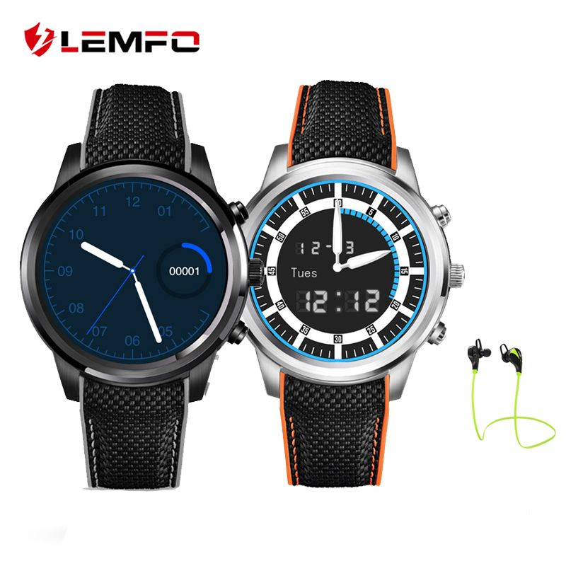 LEMFO LEM5 Smart Watch Phone Android 5.1 MTK6580 Quad Core 1GB+8GB Pedometer Heart Rate Monitor Smartwatch for Android IOS Phone