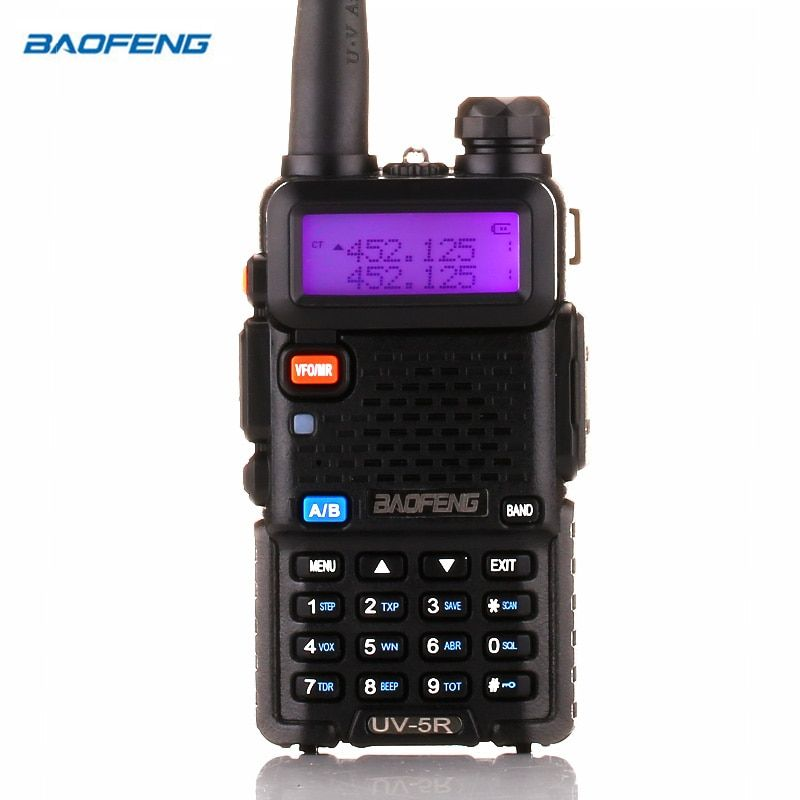 BaoFeng UV-5R Walkie Talkie Two Way Radio upgrade version baofeng uv5r 128CH 5W VHF UHF 136-174Mhz & 400-520Mhz