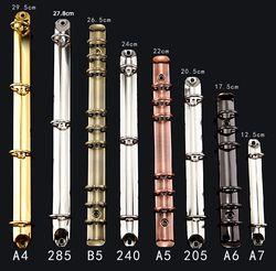 285 240 205 A4 A5 A6 A7 B5 métal spirale liant clip, 2 3 4 6 9 20 26 anneaux dossier portable DIY loose leaf binder