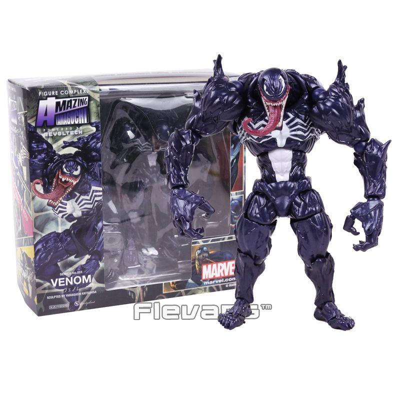 Revoltech Series NO 003 Venom Action PVC Figure Collection Modèle Jouet