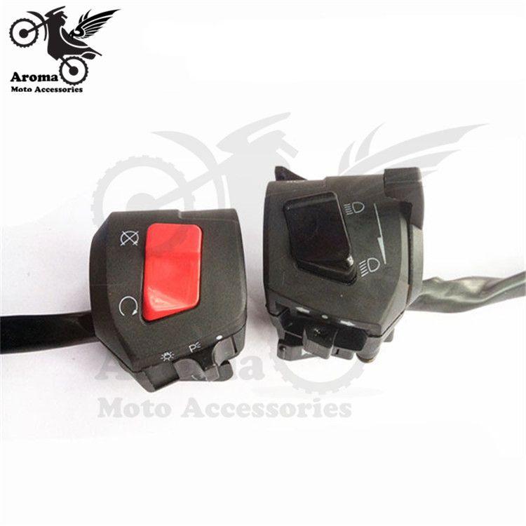 unviersal motorbike switch for honda suzuki yamaha part headlight turn signal light power horn moto switch motorcycle controller
