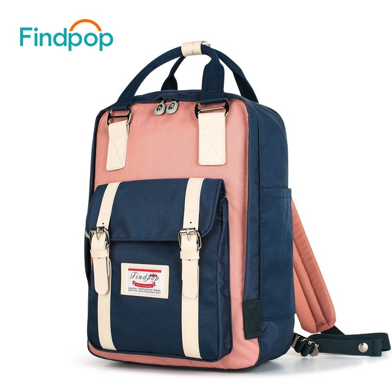 Findpop Patchwork Backpack Women Large Capacity Waterproof Backpack Bags For Women 2018 Fashion Vintage Kanken Backpack Mochilas