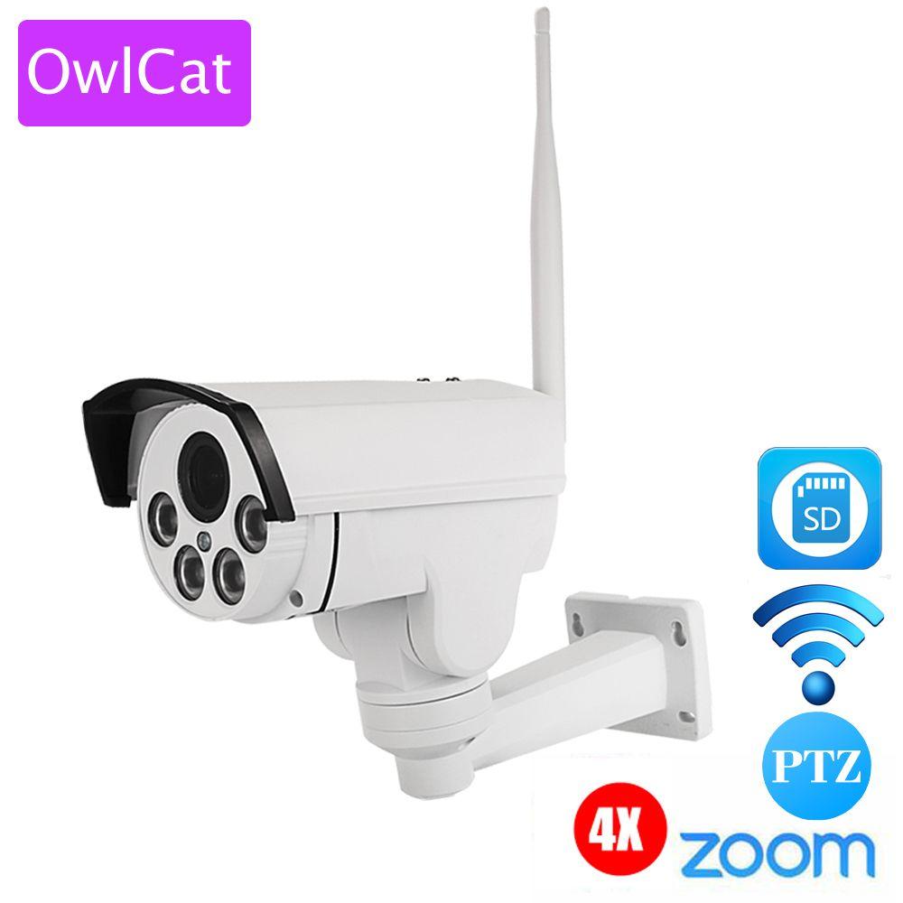 HI3516C+SONY IMX323 HD 1080P Mini Bullet Wifi PTZ IP Camera 4X Zoom Auto Focus 2.8-12mm 2MP Outdoor Wireless IR Onvif SD Card