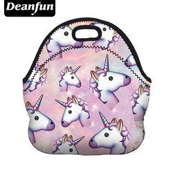 Deanfun Единорог сумка для ланча с 3D принтом мультфильм Новая Мода неопрен водонепроницаемый молния для пикника женщин 50818