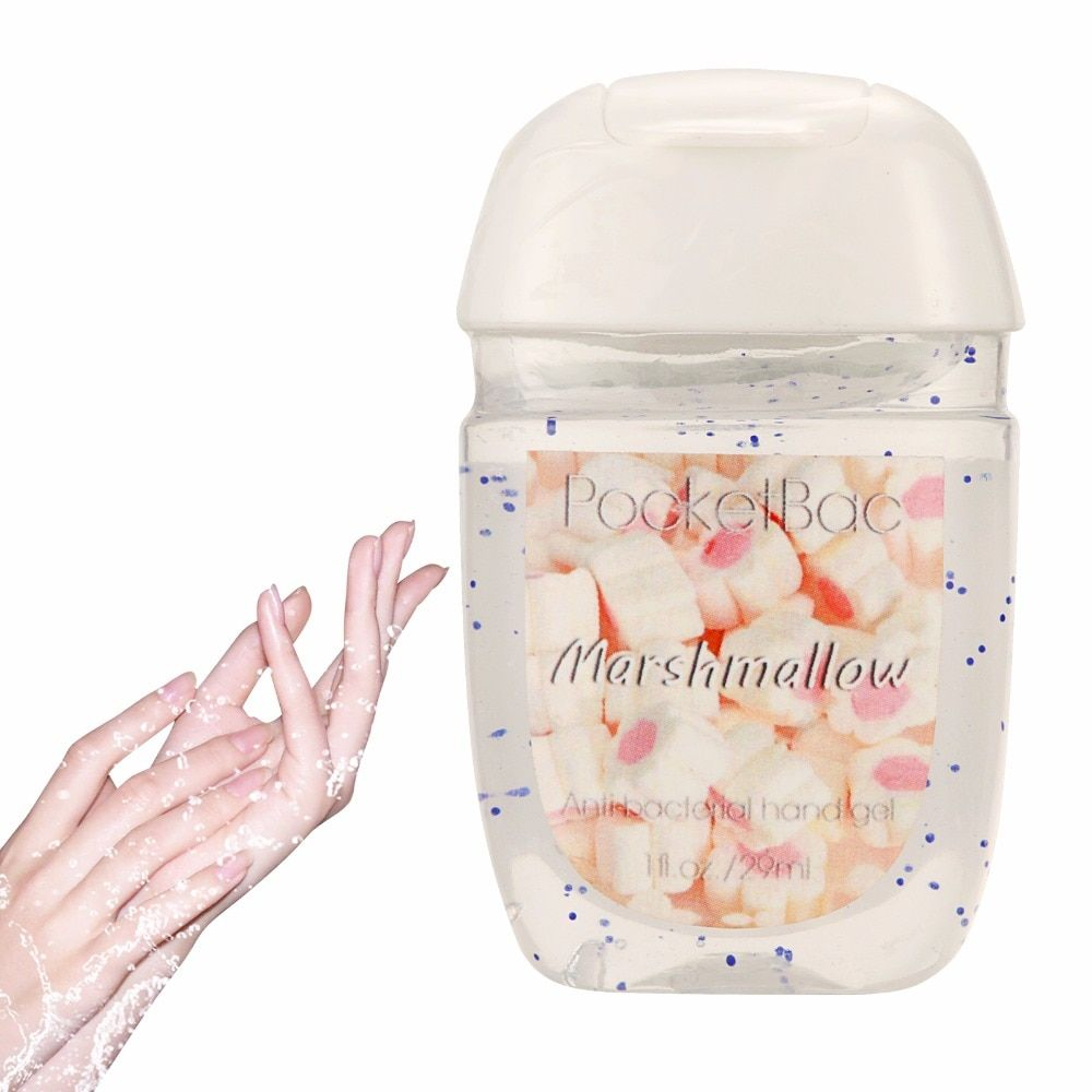 Marshmallow portable waterless Bath and Body Works Hand Sanitizer Antibacterial Hand Gel 29ml New